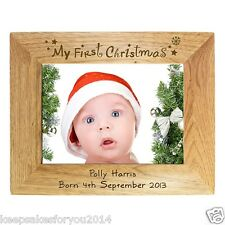 PERSONALISED MY FIRST 1ST CHRISTMAS FRAME - UNIQUE PRESENT GIFT IDEA