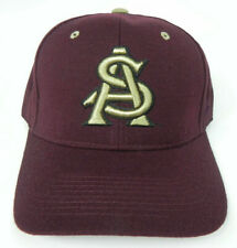 ARIZONA STATE ST. SUN DEVILS MAROON NCAA VINTAGE FITTED ZEPHYR DH CAP HAT NWT!