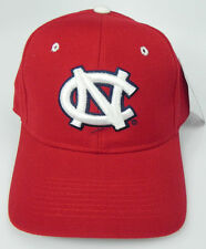 NORTH CAROLINA TAR HEELS RED NCAA VINTAGE FITTED ZEPHYR DH CAP HAT NWT!