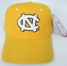 NORTH CAROLINA TAR HEELS YELLOW GOLD NCAA VINTAGE FITTED ZEPHYR DH CAP HAT NWT!
