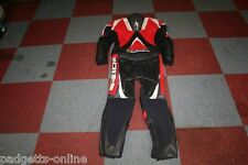 RICHA RED BLACK SILVER MENS TWO PIECE LEATHER MOTORCYCLE SUIT VARIOUS SIZES