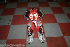 ALPINESTARS RED WHITE SILVER BLACK MENS ONE PIECE MOTORCYCLE SUIT VARIOUS SIZES