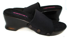 Lexees  Sandal Shoe in BLACK High Heel with Black Flap