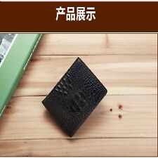 New Men's Retro Practical Real leather wallet Crocodile Purse Short Checkbook