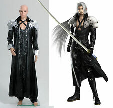 Final Fantasy ff VII 7 Sephiroth Uniform Outfit Cosplay Costume Halloween Party