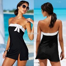 Sexy Women Strapless Bikini Cover Up Dress Padded Beach Sarong Summer Swimwear