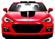 "Fits Subaru BRZ Center Rally Racing Stripe 9"" Double CARBON FIBER Vinyl Decal"