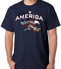 Patriotic American Flag Bald Eagle T-Shirt All Sizes & Colors (700)