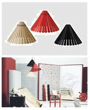 "Ikea""Ryssby 2014""Pendant Lamp SHADE Black,Red,Natural 17""Wood NEW Wooden Light"