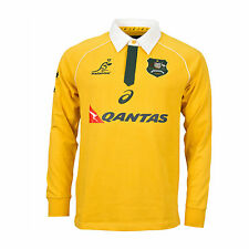 RUGBY Wallabies 2016 Mens Traditional Long Sleeve Jersey - Sizes  S-3XL