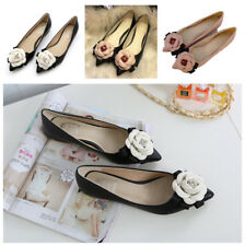 New OL Womens Flower Pointed Toe Pumps Loafer Slip on Ballet Casual Flat Shoes