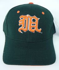 MIAMI HURRICANES GREEN (ORANGE M) NCAA VINTAGE FITTED ZEPHYR DH CAP HAT NWT!