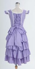 Gothic Lolita Sleeveless Lavender Purple Dress Costume Cosplay Halloween