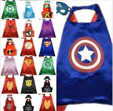Boys and Girls Superhero Cape cape&mask for kids birthday party favors gifts