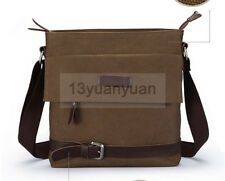 Men's Vintage Canvas School Military Shoulder Bag Messenger Bag bookbag