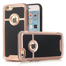 2016New Faux Brushed Metal Hybrid Armor Slim Phone Cover Case For iphone