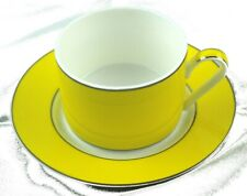 Artqiue Set of 2 - Lemon / Tangarine Coloured Cup & Saucer