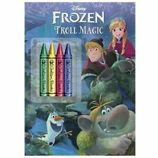 Disney's Frozen TROLL MAGIC coloring book with chunky crayons NEW children's