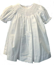Petit Ami Girls Dress White Bishop Smocked Dress Infant Sizes NWT