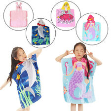 Baby Kids Children Jacquard Bath Wrap Hooded Cartoon Cute Towel Bathrobes