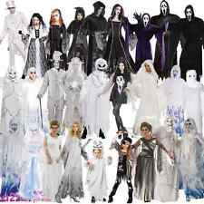 Ghost Zombie Undead Spirit Bride Halloween Scream Adult Kids Fancy Dress Costume
