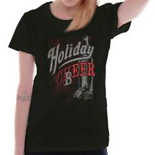 Holiday Cheer Ugly Christmas Sweater Funny Shirts Gift Ideas Ladies T-Shirt