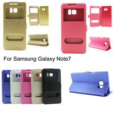 Ultra Thin Window View Flip Stand Smart Case Cover For Samsung Galaxy Note 7