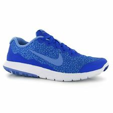 Nike Flex Experience Print Running Shoes Womens Blue/Blue Run Trainers Sneakers