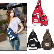 Women's Colorful Canvas Sling Bag Fanny Pack Chest Bag Messenger Backpack Casual