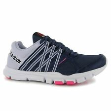 Reebok Yourflex Training Shoes Womens Purple/White/Pink Gym Trainers Sneakers