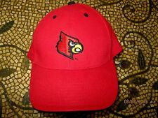Louisville Cardinals Red Adjustable  hat, 100% COTTON RED Brim