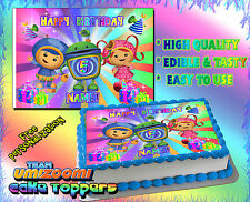 #2 Team Umizoomi Birthday cake topper Edible picture image sugar paper frosting