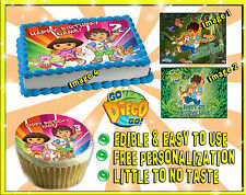 Go Diego Go cake toppers Edible image sugar decal birthday picture sheet paper