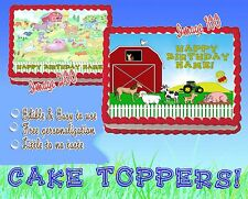 FARM ANIMALS TRACTOR Edible Cake Topper image SHEET picture sugar image picture