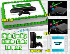 WII XBOX PlayStation cake toppers Edible image FROSTING SHEET birthday paper 3 4