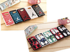 Jordan footprint+stripe Case Cover Rubber Silicone For Samsung Galaxy / iPhone
