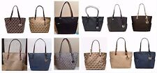 Michael Kors Jet Set Item East West Signature Tote Black Camel Navy Brown NWT