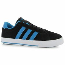 Adidas Daily Suede Trainers Mens Black/Blue/White Casual Sneakers Shoes Footwear