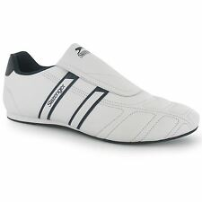 Slazenger Warrior Slip On Trainers Mens White/Navy Casual Sneakers Shoes