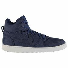 Nike Recreation Premium Court Borough Trainers Mens Blue Casual Sneakers Shoes