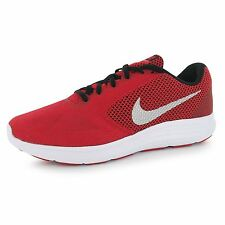 Nike Revolution 3 Nylon Runners Running Shoes Mens Red/Silver Trainers Sneakers