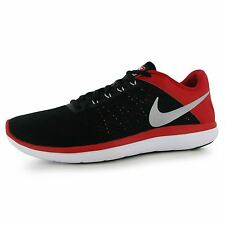 Nike Flex 2016 Running Shoes Mens Black/Silver/Red Fitness Trainers Sneakers