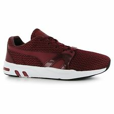 Puma XTS Knit Training Shoes Mens Burgundy Sports Fitness Trainers Sneakers