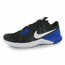Nike FS Lite TR 3 Training Shoes Mens Black/White/Blue Fitness Trainers Sneakers