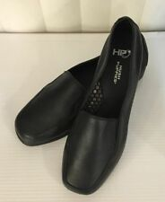 Hush Puppies HEAVEN Black/ Dark Brown Leather Loafers Moccasins 6 7 9 9.5 W WIDE