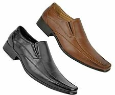 Mens casual formal smart slip on loafer work office shoes size 6-11