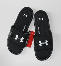 Under Armour Men's Ignite IV Slides  Size  10 11 12 13 14   Black Flip Flop