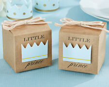CLOSEOUT Price! Blue Little Prince Crown Boy Birthday Baby Shower Favor Box
