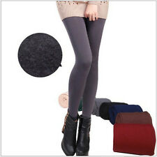 Women Warm Winter Skinny Slim Leggings Stretch Pants Thick Footless Charm
