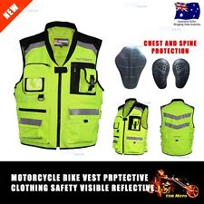 New High Visibility Safety Work Vest Day & Night Time Work Wear Yellow Protectio
